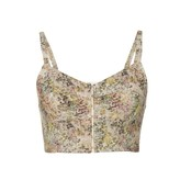 Isa Arfen Bustier Top in Abstract Field Print