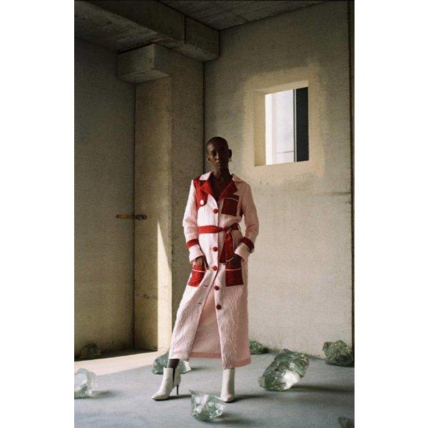 Taller Marmo Granadine Satin Trench Coat