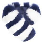 Charlotte Simone Candy Striped Cuff in Royal Blue and White