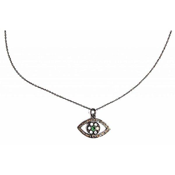 Ileana Makri Soul's Eye Chain Pearl Necklace