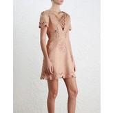 Zimmermann Bowerbird Laced-In Mini Dress