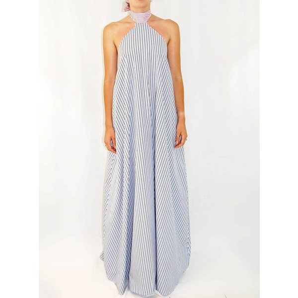 Taller Marmo Marcela Dress in Pink and Blue Stripe