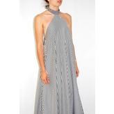 Taller Marmo Marcela Dress in Black and White Stripe