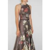 Sandra Mansour Soleil du printemps Printed Brocade Midi Dress