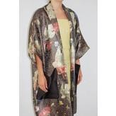Sandra Mansour Vague Qui Me Berce Printed Brocade Long Jacket