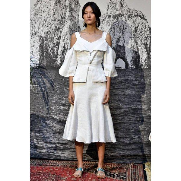 Tata Naka Linen Twill Godet Skirt