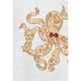 Tata Naka Textured Viscose Top with Octopus Applique