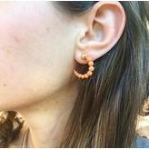 """Yvonne Leon """"Escargot"""" Coral Earring in 18kt Yellow Gold"""