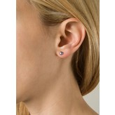 """Yvonne Leon """"Puce Perlegrise PM"""" Grey Pearl Stud in 18K White Gold"""