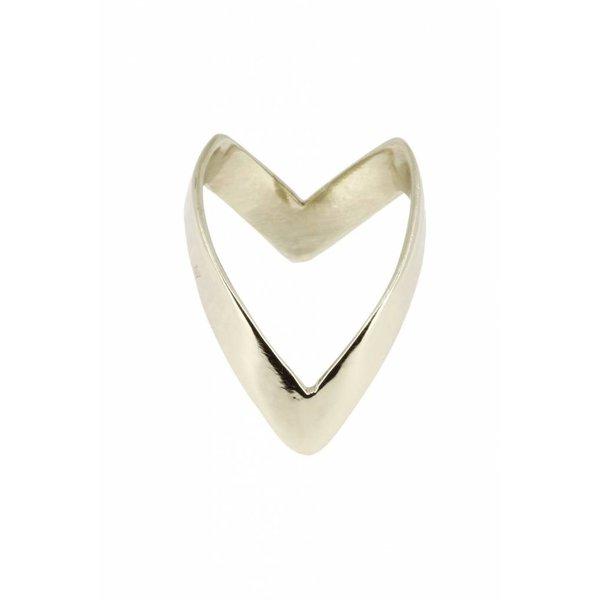 """Yvonne Leon """"Viviane"""" 4mm Ring in 18kt White Gold"""