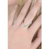 """Yvonne Leon """"Viviane"""" Bicolor Ring - Turquoise and 18kt Rose Gold"""