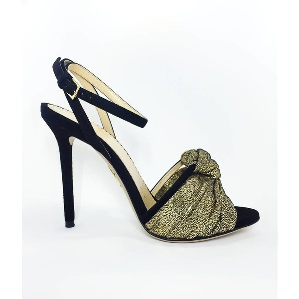 Charlotte Olympia Broadway 110 Sandal with Metallic Knot