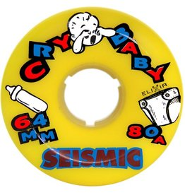 Seismic Seismic- Cry Baby- 64mm- 80a- Yellow- Wheel
