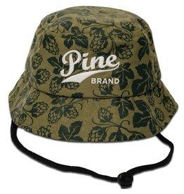 Pine Brand- Pine Logo- Green Hops- Hop Bucket Hat