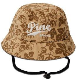 Pine Brand- Pine Logo- Khaki Flowers- Hop Bucket Hat