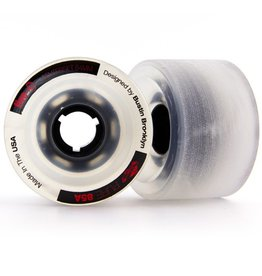 Bustin Bustin- Five-O- Clear with Red-  64mm- 85a- Wheel