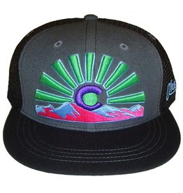 Aksels Aksels- Co Sunset- Flat Brim- Neon and Black- Hat