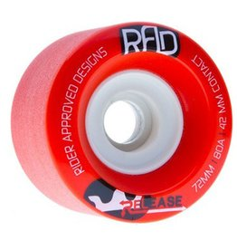 RAD RAD- Release- Wheels- 72mm, Red, 80a