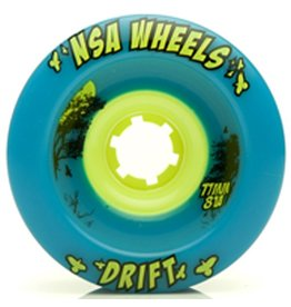 Never Summer Never Summer- Drift- Wheel- 77mm, Cyan, 81a