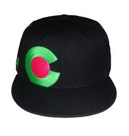 Aksels Aksels- Colorado- Flat Brim- Neon- Hat