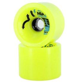 Never Summer Never Summer- Hustle- Wheel- 75mm, Yellow, 78a