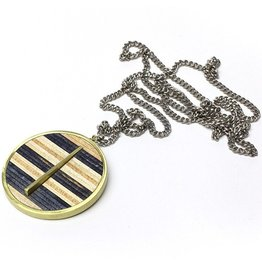 MapleXO Maple XO- Timepiece- Black and White- Necklace
