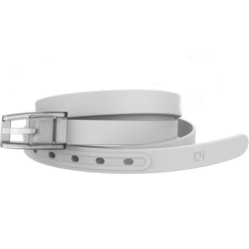 C4 C4- Skinny Belt Set- White Belt with White Buckle- OSFA