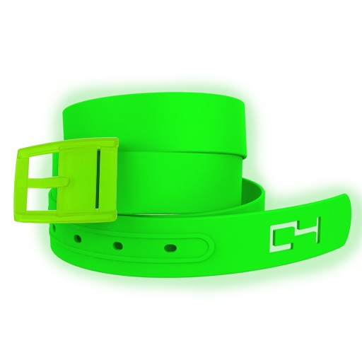 C4 C4- Classic Belt Set- Limited Edition- Green Glow in the Dark Belt with Green Buckle- OSFA