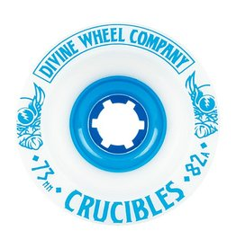 Divine Divine- Crucibles- 73mm- 82a- White with Blue- Wheel