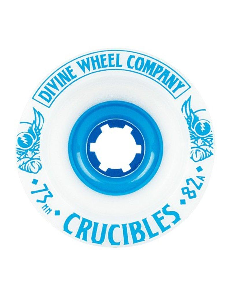 Divine Divine- Crucibles- 73mm- 82a- White with Blue- Wheel