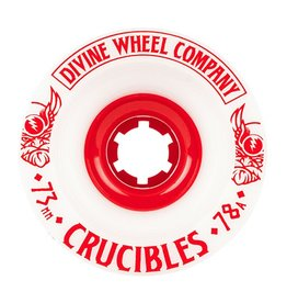 Divine Divine- Crucibles- 73mm- 78a- White with Red- Wheel