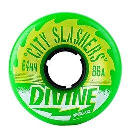 Divine Divine- City Slasher- 64mm- 86a- Green- Wheel