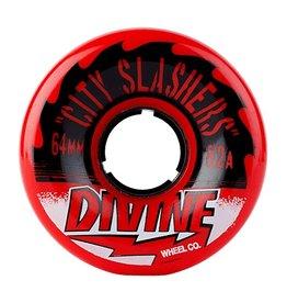 Divine Divine- City Slasher- 64mm- 82a- Red- Wheel