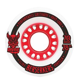 Divine Divine- City Berserkers- 70mm- 78a- White with Red- Wheel
