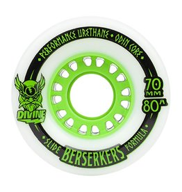Divine Divine- City Berserkers- 70mm- 80a- White with Green- Wheel