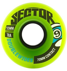 Sector 9 Sector 9- Double Wides- Green- 70mm- 78a- Wheel