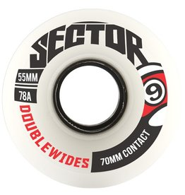 Sector 9 Sector 9- Double Wides- White- 70mm- 78a- Wheels