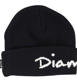 Diamond Diamond- OG Script Fold- Black- Beanie