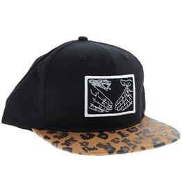 Doom Sayers Doom Sayer- Snake Shake- Adjustable- Black White Leopard- Hat