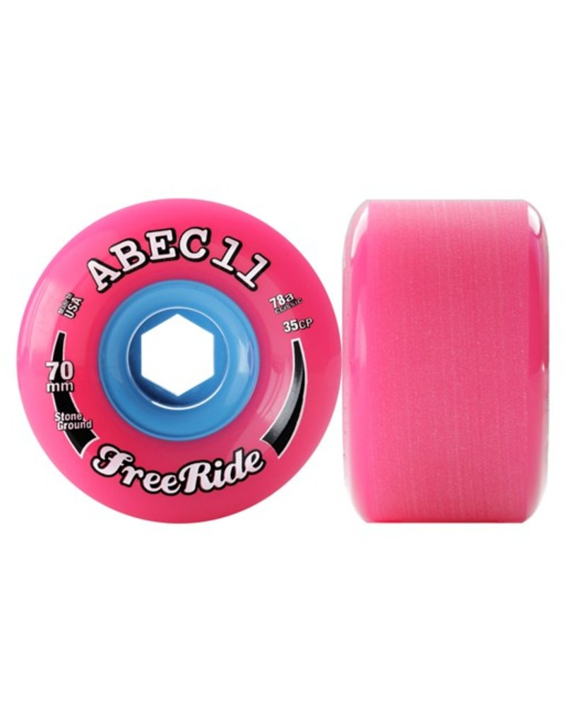 ABEC 11 ABEC 11- Freeride- 70mm- Pink- 78a- Wheel