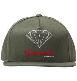 Diamond Diamond- OG Logo- Adjustable- Olive- Hat