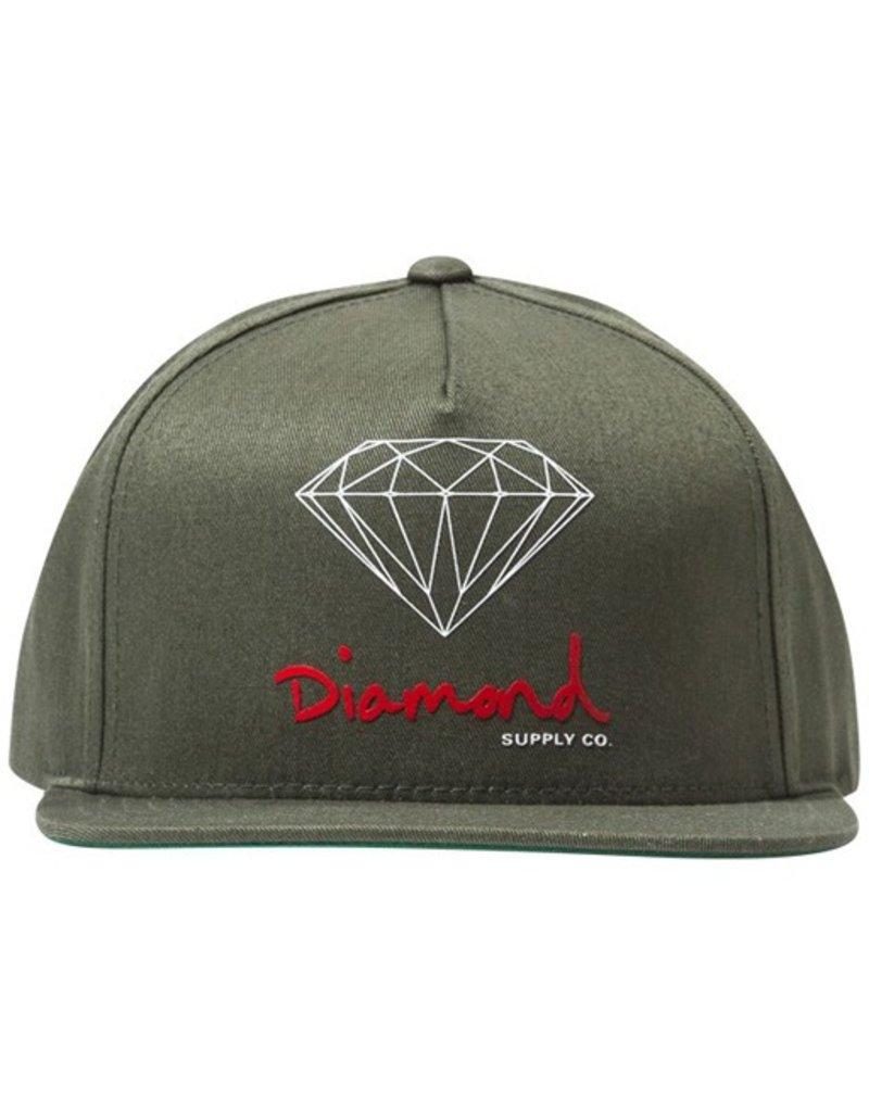 Diamond Diamond- OG Logo- Adjustable- Olive- Hat