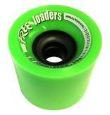 Free Wheels Free- Loaders- Green- 73mm- 80a- Wheels