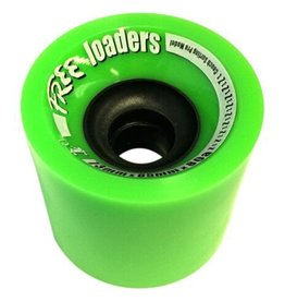 Free Wheels Free- Loaders- Green- 73mm- 80a- Wheels