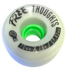 Free Wheels Free- Thoughts- Grey- 70mm- 78a- Wheels
