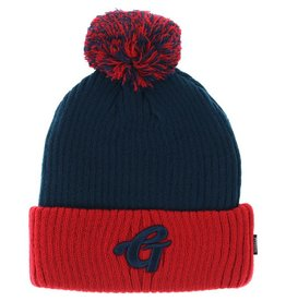 Grizzly Grizzly- High Grade Pom- Navy and Red- Beanie