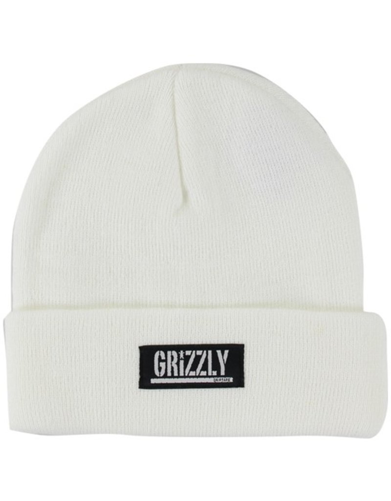 Grizzly Grizzly- Stamp Fold- White- Beanie