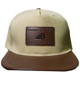 Belong Designs Belong- Elevation Leather- Hat- Flat Brim- Tan