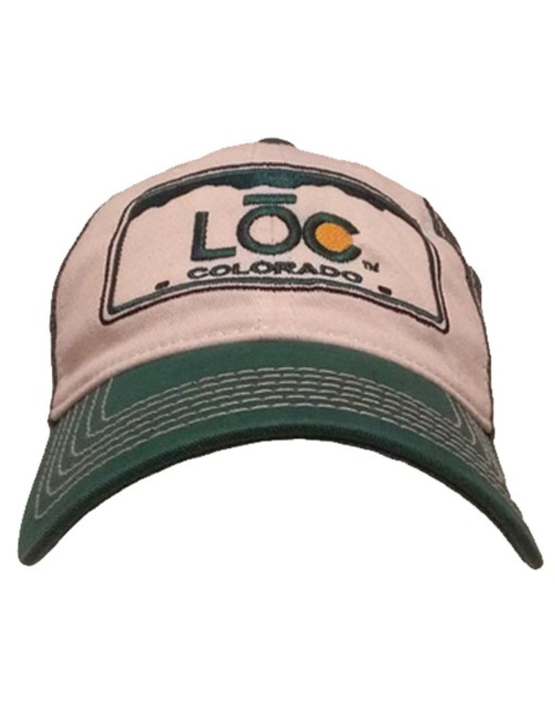 LOC- The CO Plate- White and Green- Snap Back- Hat- 2014