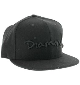 Diamond Diamond- OG Script- 7 inch- Black- Hat